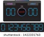 scoreboard vector score board... | Shutterstock .eps vector #1422331763