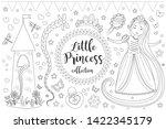 cute little princess rapunzel...   Shutterstock .eps vector #1422345179