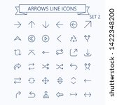 thin line vector arrows icon... | Shutterstock .eps vector #1422348200