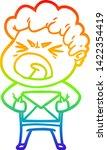 rainbow gradient line drawing... | Shutterstock .eps vector #1422354419