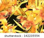 lily seamless pattern | Shutterstock . vector #142235554