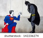 Постер, плакат: Street art shows Superman
