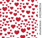 heart icon patterns. seamless... | Shutterstock .eps vector #1422368216