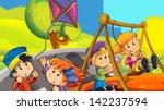 children on vacations  ... | Shutterstock . vector #142237594