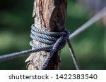 rope tie between columns in... | Shutterstock . vector #1422383540