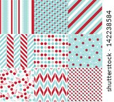 seamless patterns with fabric... | Shutterstock .eps vector #142238584