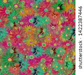 colorful seamless textile... | Shutterstock . vector #1422387446