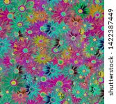 colorful seamless textile... | Shutterstock . vector #1422387449