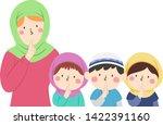illustration of kids student... | Shutterstock .eps vector #1422391160