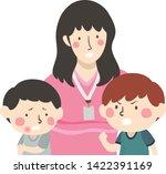 illustration of a girl teacher...   Shutterstock .eps vector #1422391169