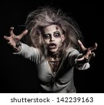 a scary undead zombie girl | Shutterstock . vector #142239163