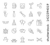 party icon. set of party.... | Shutterstock .eps vector #1422394019
