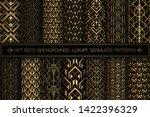art deco patterns. seamless... | Shutterstock .eps vector #1422396329