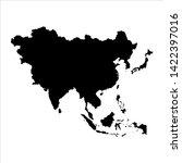 asia blank map vector . asia... | Shutterstock .eps vector #1422397016