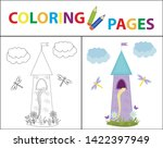 coloring book page for kids....   Shutterstock .eps vector #1422397949