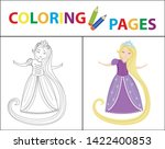 coloring book page for kids....   Shutterstock .eps vector #1422400853