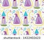 rapunzel seamless pattern....   Shutterstock .eps vector #1422402623