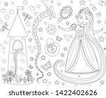 rapunzel seamless pattern....   Shutterstock .eps vector #1422402626