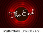 The End Handwrite Title On Red...