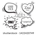 set of comic bubbles speech ...   Shutterstock .eps vector #1422420749