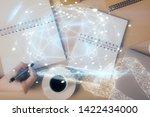 social network theme hologram... | Shutterstock . vector #1422434000