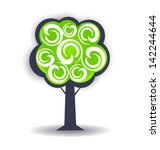 season tree vector design... | Shutterstock .eps vector #142244644
