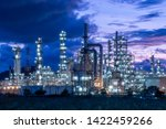 oil  refinery  and ... | Shutterstock . vector #1422459266
