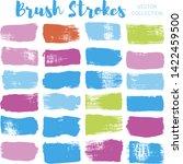 Brush Strokes Set Backgrounds....