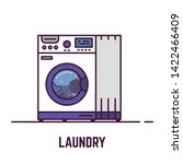 laundry machine. laundry line... | Shutterstock .eps vector #1422466409