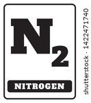 nitrogen sign drawing by... | Shutterstock .eps vector #1422471740
