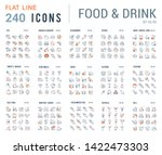 big collection of linear icons. ... | Shutterstock . vector #1422473303