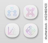 diagram concepts app icons set. ...