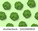 Broccoli Cabbage On A Colored...