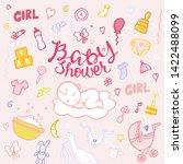 baby boy shower card....   Shutterstock .eps vector #1422488099