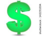 green dollar sign | Shutterstock .eps vector #142251034