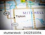 Tipton. Kansas. USA on a map