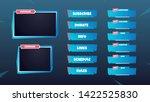 set of gaming panels  facecam... | Shutterstock .eps vector #1422525830