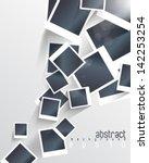 eps10 vector overlapping blank... | Shutterstock .eps vector #142253254