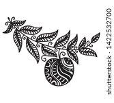 beautiful pattern apple. vector ... | Shutterstock .eps vector #1422532700