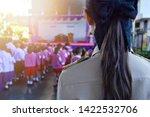 female teachers wear thai...   Shutterstock . vector #1422532706