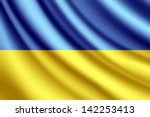 waving flag of ukraine  vector | Shutterstock .eps vector #142253413