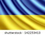 waving flag of ukraine  vector | Shutterstock .eps vector #142253413