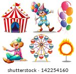 illustration of a circus tent ... | Shutterstock . vector #142254160