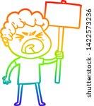 rainbow gradient line drawing... | Shutterstock .eps vector #1422573236