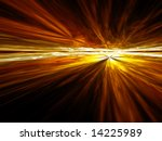 Golden Cloud Vista - fractal illustration - stock photo