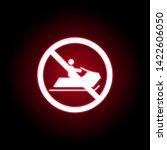 forbidden jet icon in red neon...