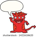 cartoon halloween monster with... | Shutterstock .eps vector #1422618620