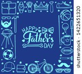 fathers day template. happy... | Shutterstock .eps vector #1422651320