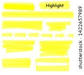 hand drawn highlight marker... | Shutterstock .eps vector #1422657989