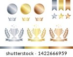 award decoration elements. gold ... | Shutterstock .eps vector #1422666959